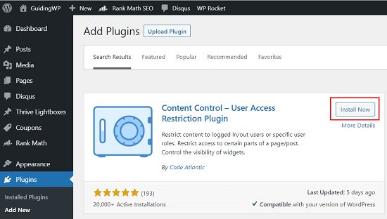 WordPress-Content-control