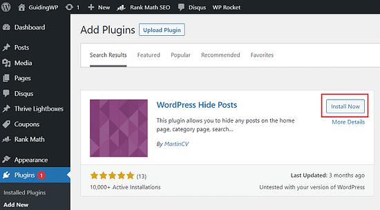 WordPress-Hide-Posts