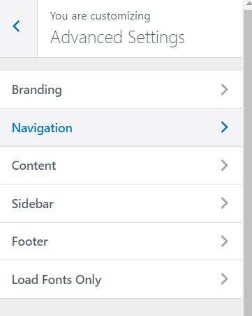 Google Fonts setting