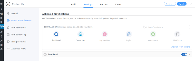 automatic emails WordPress