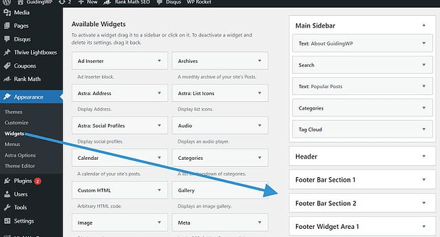 Footer-widgets-WordPress