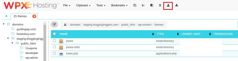 Upload WordPress themes 05