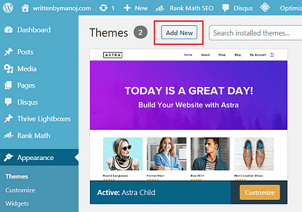 How to update a WordPress theme