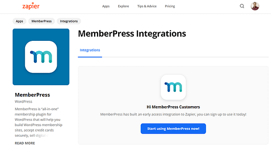 Zapier MemberPress