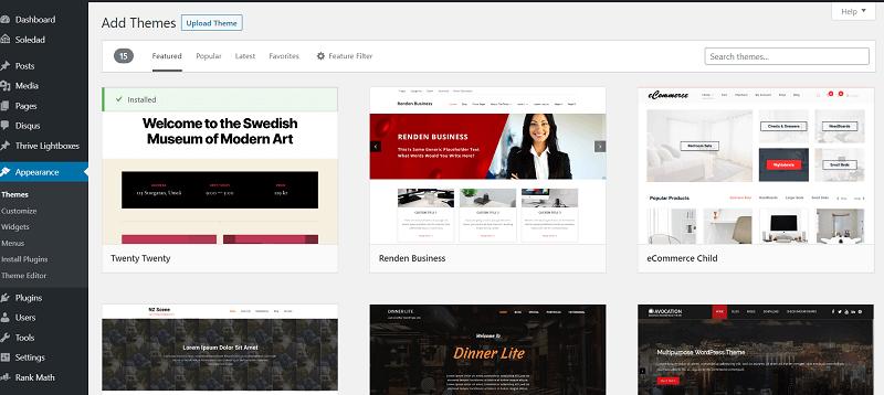 Change WordPress Theme