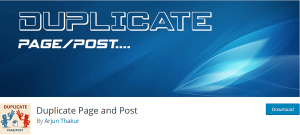 Duplicate page post