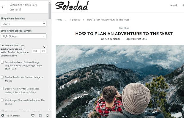 Soledad-customizer-settings