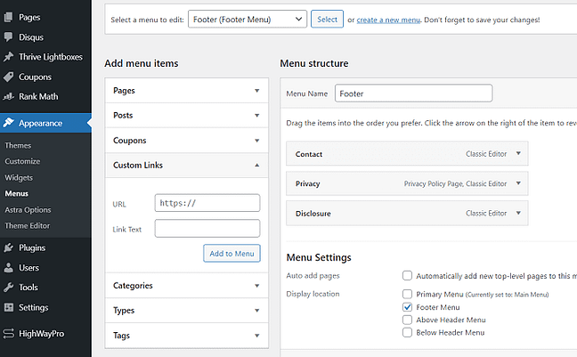 footer-menu-wordpress